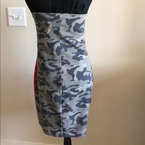 Express Dresses - Camouflage Fitted Mini Dress